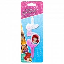 Свеча цифра 5 с принцессами Диснея