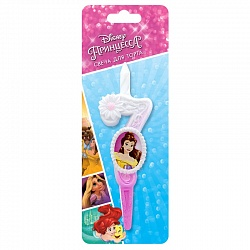 Свеча цифра 7 с принцессами Диснея