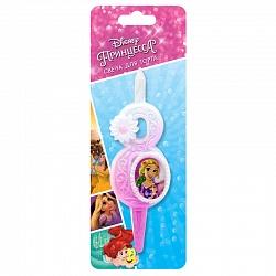 Свеча цифра 8 с принцессами Диснея