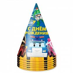 Колпаки Робокар Поли и друзья, 6 шт