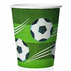 Стаканы (250 мл) Футбольный мяч, 6 шт.