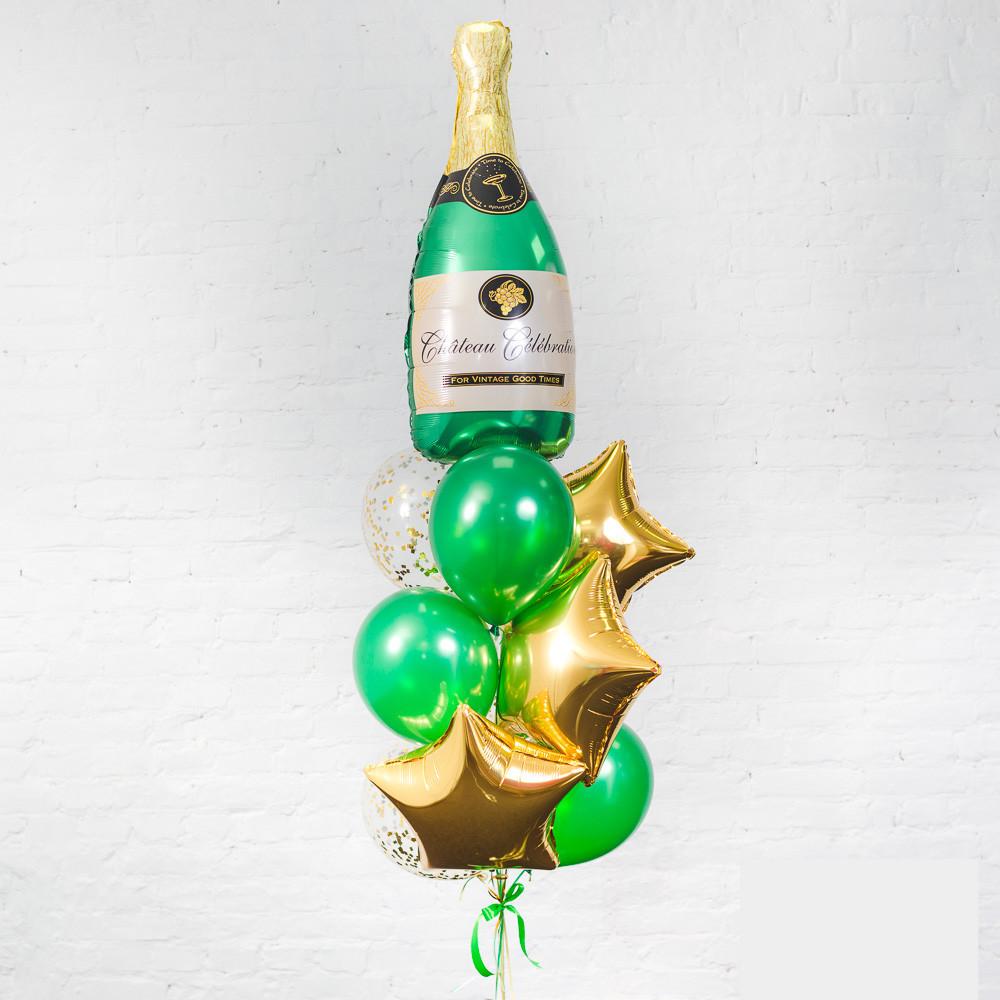 Букет «Бутылка шампанского»