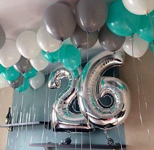 Композиция «Шары и цифры» на день рождения