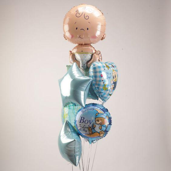 Букет «Рождение мальчика» на выписку