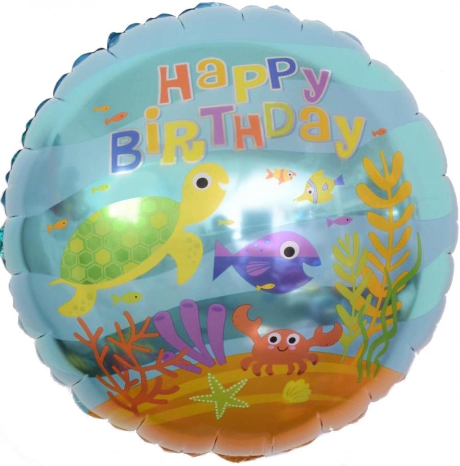 Шар Круг, С Днем Рождения подводный мир