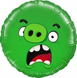 Шар Круг, Angry Birds, Зеленый