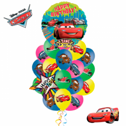 Букет «Поющие Тачки» из 23 воздушных шаров и 1 поющего шара