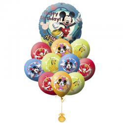 Букет на День рождения «Поздравление от Микки и его друзей-2» из 21 шаров