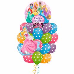 Композиция из 17 гелиевых шариков  «Поющие Принцессы»