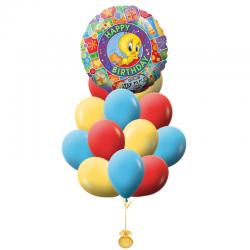«Музыкальное поздравление от Твитти» букет шаров на день рождения
