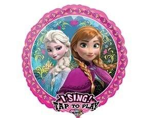 Фольгированный шар музыкальный Frozen
