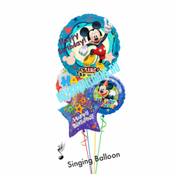 """Поющий букет из шаров """"Поздравление от Микки"""