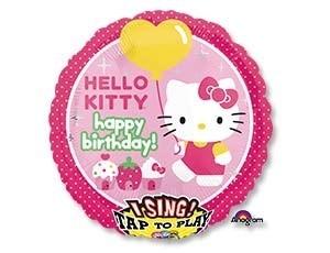 Музыкальный фольгированный  шарик Hello Kitty