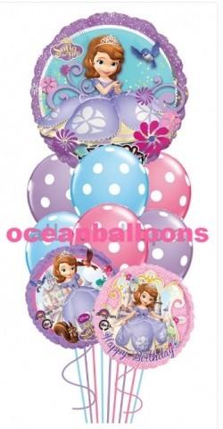 Букет из воздушных шаров «Музыкальная Принцесса София»