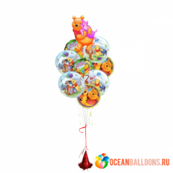 Букет из воздушных шаров «Поздравление от Винни»