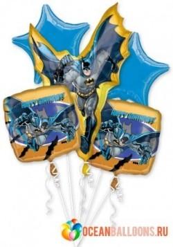 Букет из фольгированных шариков «Бэтмен спешит на помощь»