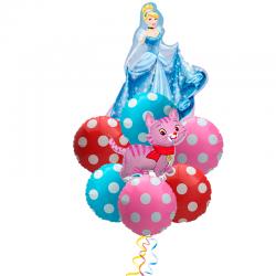 «Нежный подарок дочке» букет из 8 фольгированных шаров