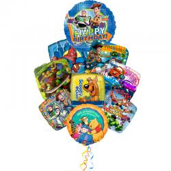 Букет герои мультфильмов букет из 9 шариков