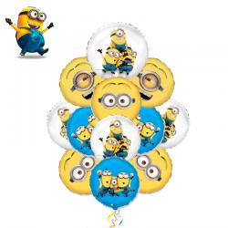 Букет из 11 воздушных шариков Миньоны-2