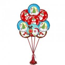 Букет «Сказочный Новый Год» из 9 воздушных шаров