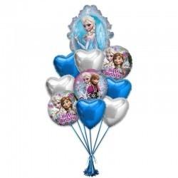 Букет от Эльзы из 11 фольгированных шариков на День Рождения