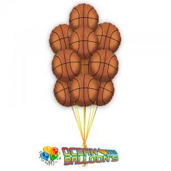 Букет из 10 фольгированных шаров «Баскетболист»