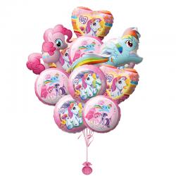 Композиция «Дружба пони» из 11 воздушных шаров