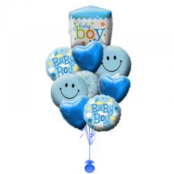 Композиция  «Бейби бой» из 10 шаров на Рождения малыша