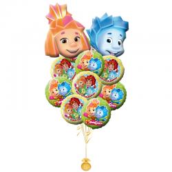 «Фиксики» композиция из 8воздушных шаров