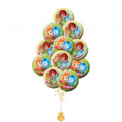 « С днем рождения Фиксики» композиция из 11 воздушных шаров