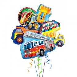 «Машинки» из 5 фольгированных шаров