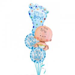 Композиция  «Малыш» из 4 фольгированных шаров