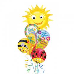 «Выздоравливай» букет из 6 фольгированных шаров