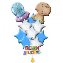 Букет из воздушных шаров «Малыш с соской»