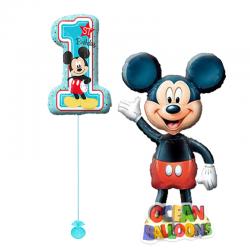 Ходячий шар   Микки Масус с цифрой для мальчика