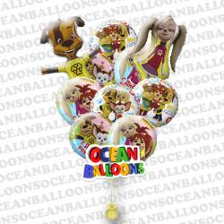 Набор фольгированных шариков «Семья Барбоскиных»