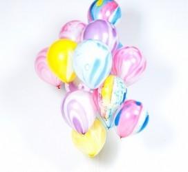 Воздушные шары Мрамор