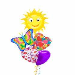 Букет «Весенняя Теплота» из шариков