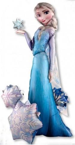 Ходячий шар Эльза - фигура Эльзы из мультфильма Снежная королева