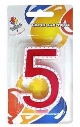 Свеча Цифра 5 на торт