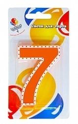Свеча Цифра 7 на Торт