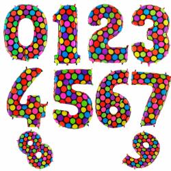 Шары цифры из фольги «Супер-яркие»