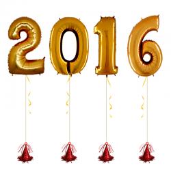 Шары цифры на новый год «2016»