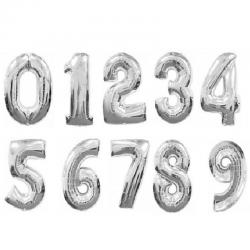 Фольгированные шары Серебряные цифры