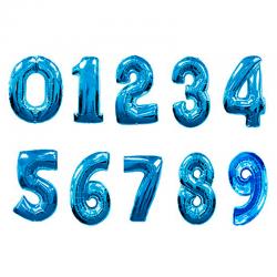Фольгированные шары Синие цифры