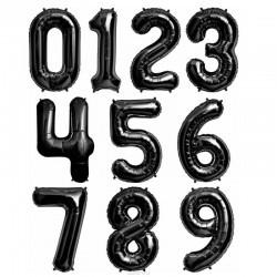 Фольгированные шары цифры Черные