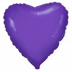 Фольгированный Сердце, Фиолетовый.