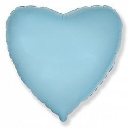 Фольгированный Сердце, Голубой.