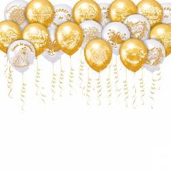 Воздушные шары на свадьбу «Поздравление для Молодоженов» 100 штук
