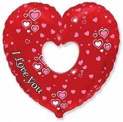Воздушные шары из фольги сердце на 14 февраля, 8 марта